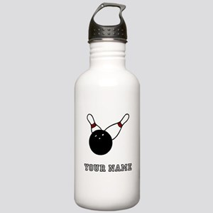 Bowling Ball And Pins Water Bottle