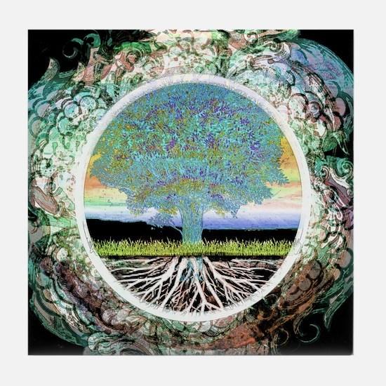 Unique Tree life Tile Coaster