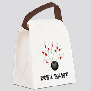 Bowling Strike Canvas Lunch Bag