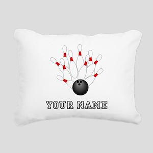 Bowling Strike Rectangular Canvas Pillow