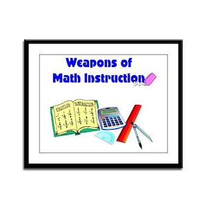 Scott's Weapons of Math Destruction Framed Panel P