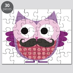 Mustachioed owl, Purple Puzzle