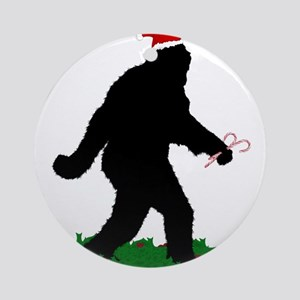 Christmas Squatchin Round Ornament