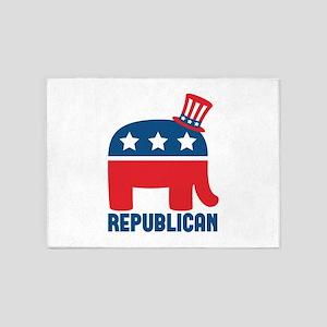 Republican 5'x7'Area Rug