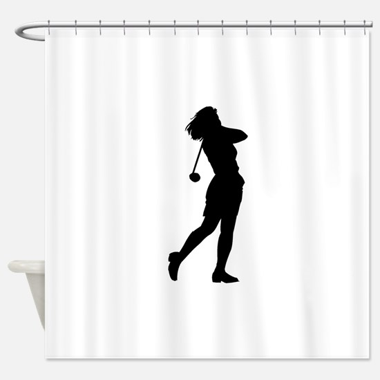 Woman Golfer Shower Curtain