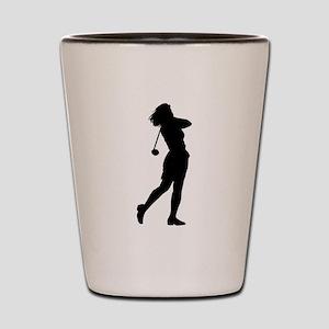 Woman Golfer Shot Glass