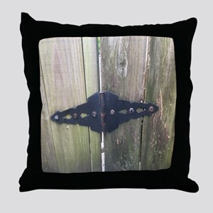 Fence Hinge Throw Pillow
