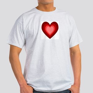 Many Hearts in Shades of Red Ash Grey T-Shirt