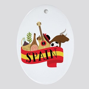 Spain 1 Ornament (Oval)