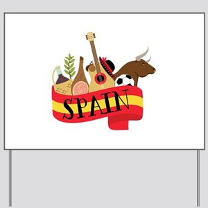 Spain 1 Yard Sign