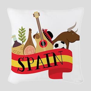 Spain 1 Woven Throw Pillow
