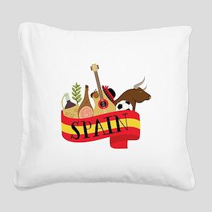 Spain 1 Square Canvas Pillow