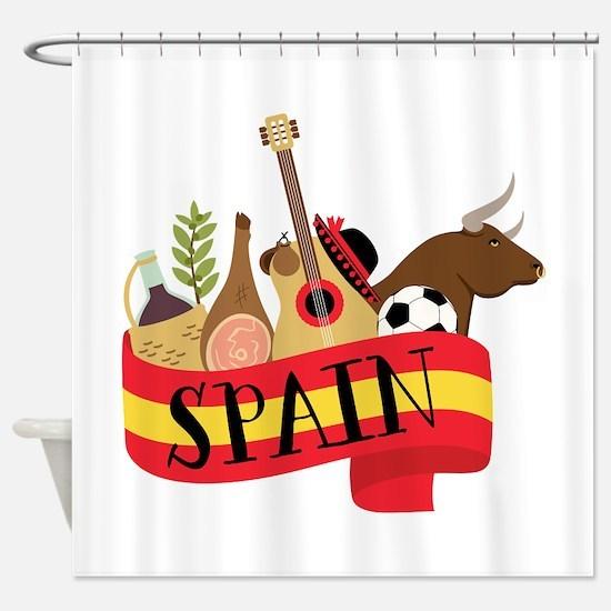 Spain 1 Shower Curtain