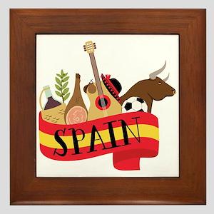 Spain 1 Framed Tile