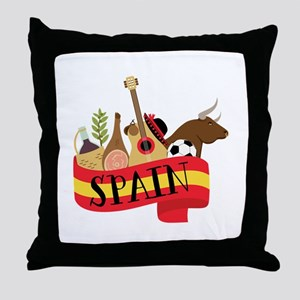 Spain 1 Throw Pillow