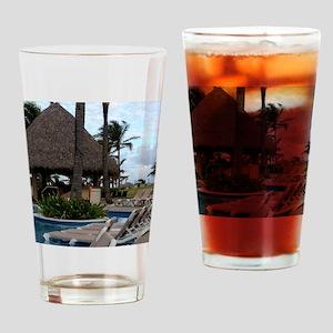 Punta Cana, Dominican Republic Drinking Glass