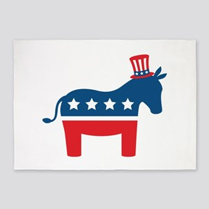 Democrat Donkey 5'x7'Area Rug