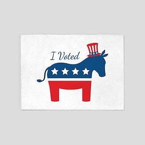 I Voted 2 5'x7'Area Rug