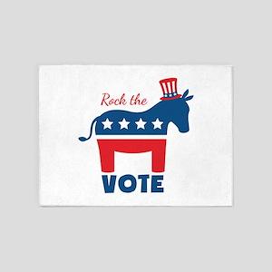 Rock The Vote 5'x7'Area Rug