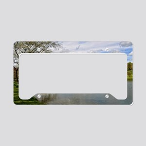 Castle Howard from the Lake License Plate Holder