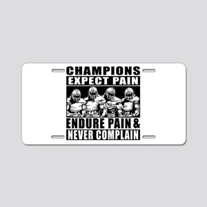 Football Champions Never Co Aluminum License Plate