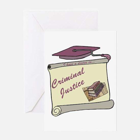 Criminal Justice Degree Greeting Card