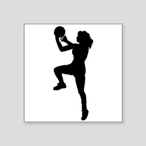 Womens Basketball Player Sticker