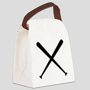 Baseball Bats Canvas Lunch Bag