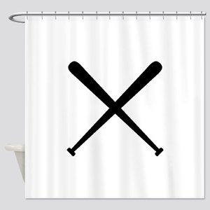Baseball Bats Shower Curtain