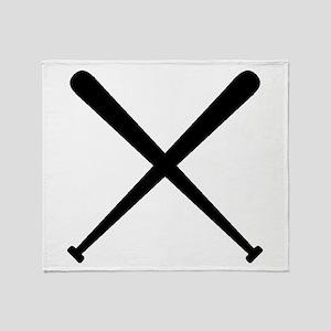 Baseball Bats Throw Blanket