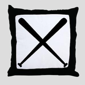 Baseball Bats Throw Pillow
