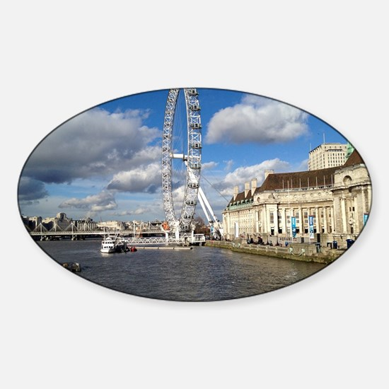 London Eye, England, United Kingdom Sticker (Oval)