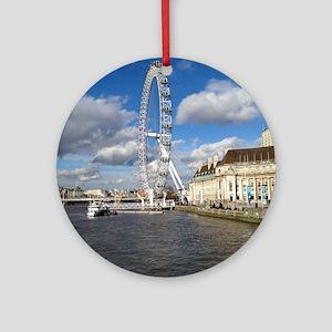London Eye, England, United Kingdom Round Ornament