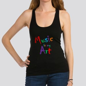 Music is my Art Racerback Tank Top