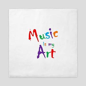 Music is my Art Queen Duvet