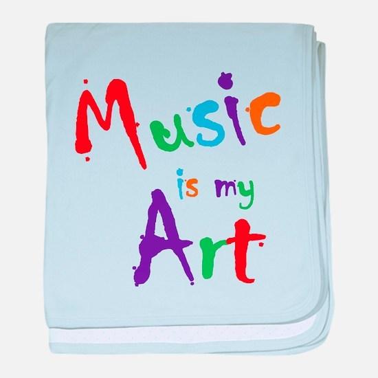 Music is my Art baby blanket