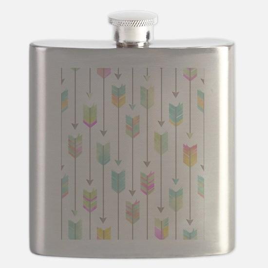 Watercolor Arrows Pattern Flask