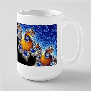 Mandelbrot Blue Double Spiral Fractal Mugs