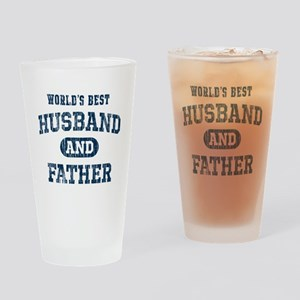 World's Best Husband and Father Drinking Glass