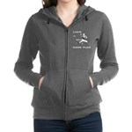 LUCK IS NOT A GAME PLAN-BASEBALL Women's Zip Hoodi