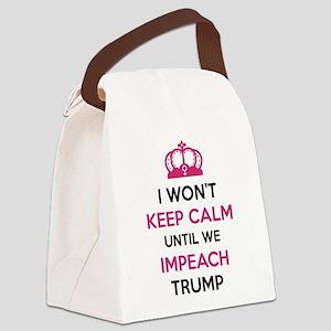 Impeach Trump Canvas Lunch Bag