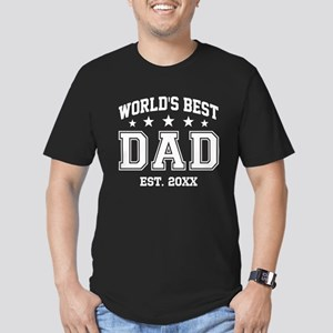 Personalized World's B Men's Fitted T-Shirt (dark)