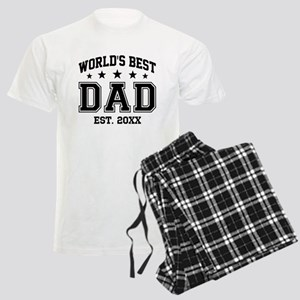 Personalized World's Best Dad Men's Light Pajamas