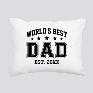 Personalized World's Bes Rectangular Canvas Pillow