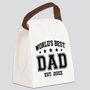 Personalized World's Best Dad Canvas Lunch Bag