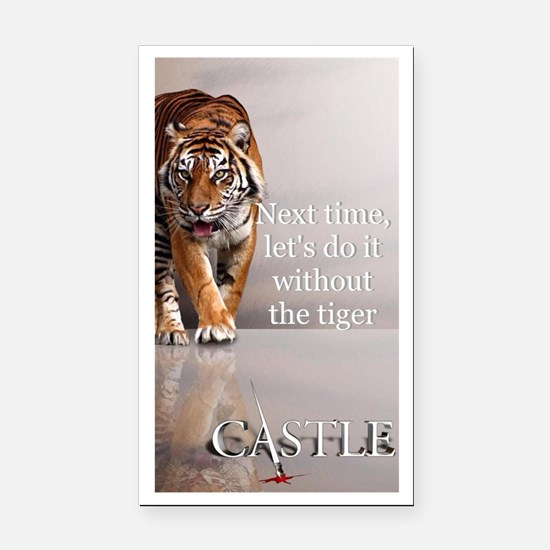 Castle Next Time Tiger Rectangle Car Magnet