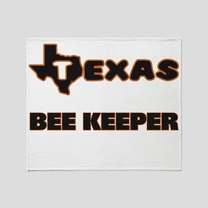 Texas Bee Keeper Throw Blanket
