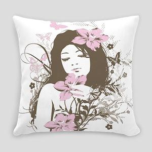 Floralgirl Everyday Pillow