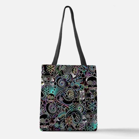Cute Skulls Polyester Tote Bag