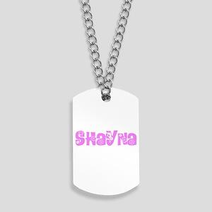 Shayna Flower Design Dog Tags